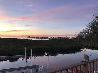 Gorgeous waterfront home with unobstructed views of the Gulf