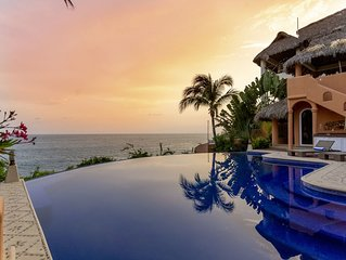 Luxurious Oceanfront Villa - Steps from Manzanillo Beach - Best View in Puerto