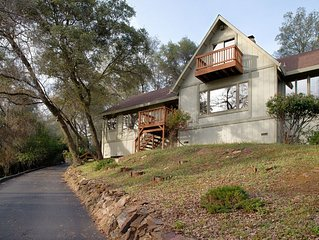 Gold Country Tudor with Beautiful Canyon & Golf Course Views on 2+ Private Acres