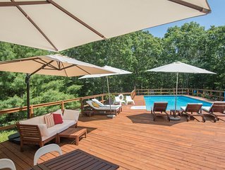 Beautiful, modern and stylish 3 bed 3 bath home in East Hampton, set in 4 acres