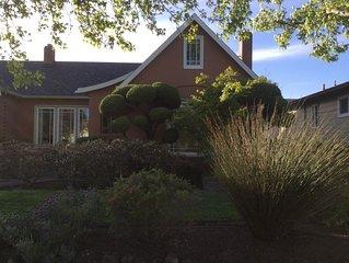Downtown Petaluma home, convenient to wine country, coast, San Francisco