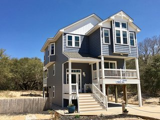 AMAZING NEW 4BR BEACH HOUSE-Perfect Location-Keyless Entry-Hot Tub-Vollyball Ct