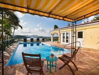Spectacular Hilltop Home, Views Of Caribbean Sea, Altona Lagoon & North Shore!!