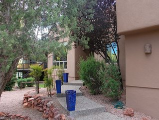 "Adobe Home, Eclectic Decor,  Good Views, Choice Location, Quiet, 70"" TV, WiFi"