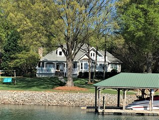 Gorgeous Lakefront home with a private dock & the most beautiful sunset views!