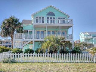 Kure Beach House: Ocean Views, 30 seconds to the beach! Second row home.