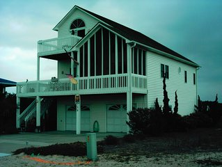 Beautifully decorated dune home with surrounding decks with Ocean and ICW views