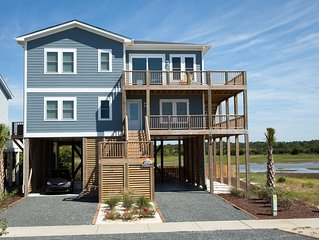 5 Bedroom 2nd Row Home with Heated Pool and Spectacular Marsh and Ocean Views