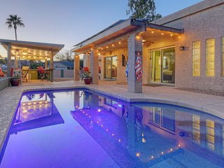 High-end distinctive north scottsdale home with a heated salt water pool