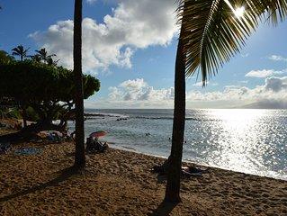 Amazing Beachfront Studio Condo on Napili Bay,  Perfect for Couples