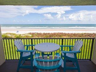 Sand Dollar II, Ocean Front Flat, 3 BR 2BA, Pool, Wifi, Elevator, Sleeps 6