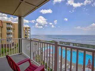 1 bdrm oceanfront vacation rental beach condo N Topsail Beach, North Carolina