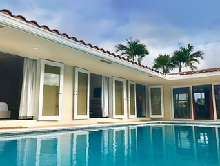 South Beach Style Sleek & Magical Pool House at Coral Ridge / Wilton Manors