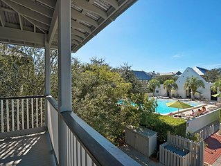 Ideal Rosemary Location-South of 30A-Overlooks Coquina Pool-Steps to Beach!
