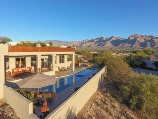 5 star stunning Catalina Mountain view home, on a golf course with private pool