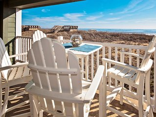Corner condo with amazing ocean views,  beach access.  Pool, spa, fitness & game