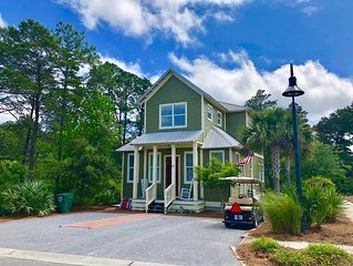 Secluded Coastal Cottage - Bikes Included - Golf cart and beach setup available!