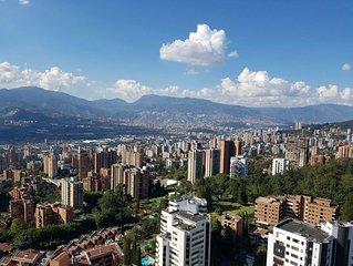 El Poblado Stunning 24th Floor 2BR Apartment with Breathtaking View