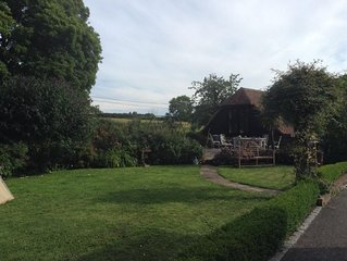 Studio in mature English gardens