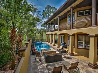 5BR, Gorgeous Private Pool and Seclusion w/ Free Golf Cart. 40% off October