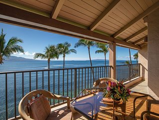 Maui Lovely Prime Oceanfront View with A/C! *Lauloa 410*