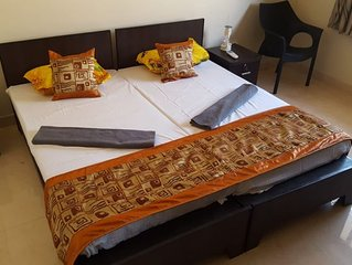 Premium air-conditioned apartment with a balcony located in Orlim, Goa