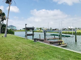 Getaway and relax at this home on a canal that leads out to the best fishing!
