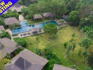 Serenity River Estate, 10 Bedroom Villa, feature pool and gardens, chef, Canggu