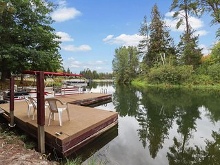 Stunning Custom Waterfront Home on Large Channel Leading to Lake Pend Oreille