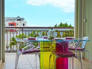 SAINT DENIS : Appart ZIAN : spacieux avec terrasse vue sur mer, 4 pers.