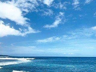 2 min a pied de la plage, centre ville Saint-Leu : Studio escale Bleue, jardin,