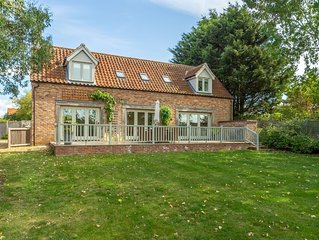 A beautiful detached property set back from the road on a little track.