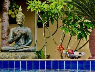 BAAN SAM SAO- Elegant 3 bd villa with large pool & tropical garden