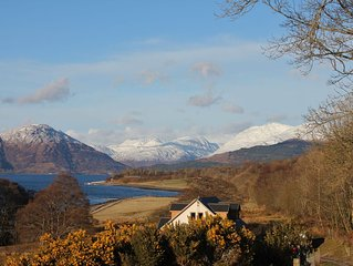 Creran Reef, a beautifully presented holiday villa with loch views, near Oban.