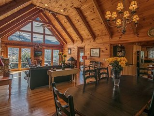 Valle Crucis Accessible Log Cabin, Amazing Mountain Views