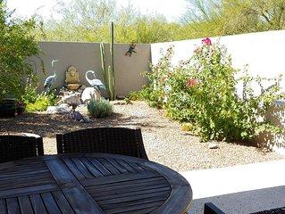 Quiet town home Casita  condo has a private backyard & no upstairs neighbors!