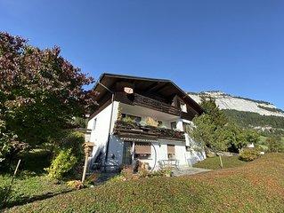 Zentral gelegene Wohnung mit traumhafter Aussicht auf die Alpen kostenloses WLAN