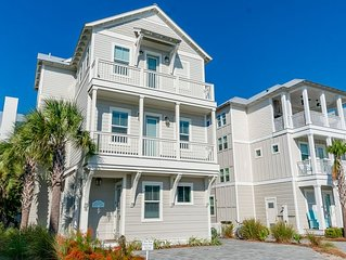 New Vacation Home in Inlet Beach with Gulf Views+Beach Chairs +Pool +FREE BIKES!