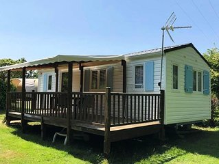 Camping Au Pré de l'Etang - Mobil home Amazone 3 pièces 4 personnes