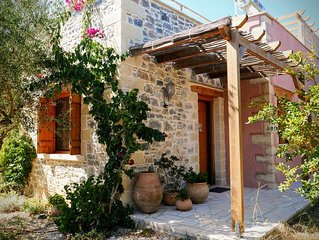Traditional Stone Cottage for Couples. Private Rural location.  Kefalas nr Vamos