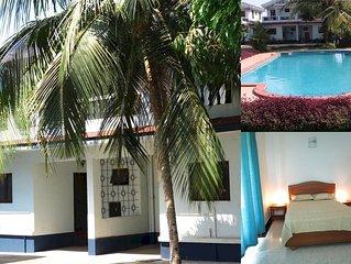10) Spacious  serviced villa central arpora  & WiFi