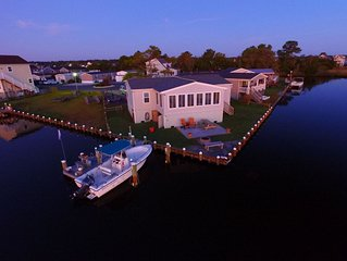 WATERFRONT! Open View Private pier Crab/Kayak/Boat/SUP Peace/Quiet mins 2 beac