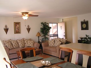 Private Garden View Condo with Sit out Lanai, Free Parking and WiFi