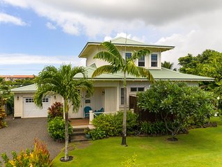 Beautiful New Plantation Style Cottage, Steps Away From Poipu Beach