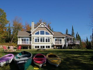 LAKEFRONT LUXURY - BIRCH POINT Private 5 Bdrm with SPA, Pet Friendly, Sleeps 15