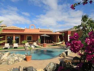 Dream villa with private tennis court & heated pool & children's play area