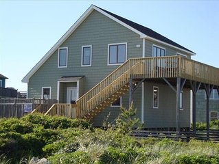 Fantastic Semi-Oceanfront Cottage in Quiet South Nags Head
