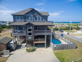 3 MIN WALK TO BEACH, Semi  -Oceanfront, 5 BRs 5 1 /2 BA, Pool, Hot Tub, Dogs Ok