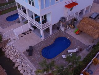 4/3 Pool w/Heater/Canal/Boat Dock/Villa - Blue Breeze * Sombrero Beach