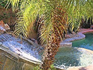 Live Love Laugh * Waterfall Paradise Palm Oasis WALK TO COACHELLA & STAGECOACH